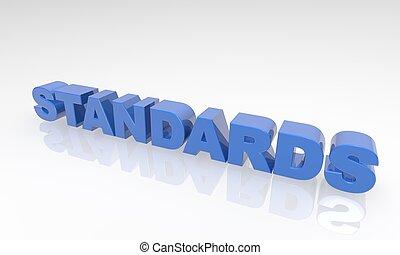 texte, normes, buzzword, 3d