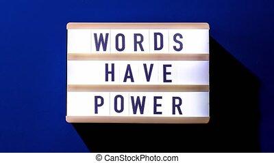 texte, power., concept., avoir, lightbox, 4k, mots, zoom, citations, motivation
