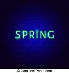 texte, printemps, néon