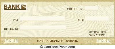 texte, propre, ton, chèque, espace