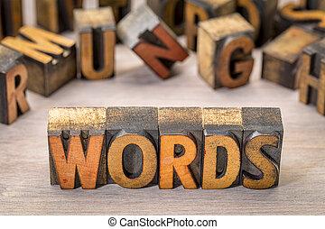texte, résumé, bois, type, mots