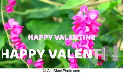 texte, valentin, fleur, heureux, fond, liane, marque