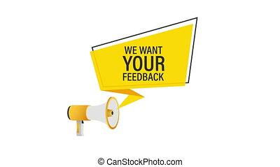 texte, vouloir, feedback., stockage, concept, illustration., ton, business, nous