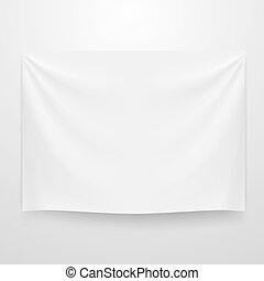textile, blanc, bannière, clair, gabarit