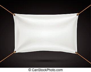 textile, blanc, bannière