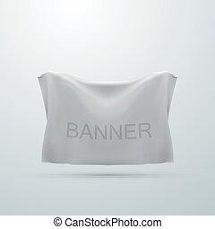 textile, blanc, maquette, bannière