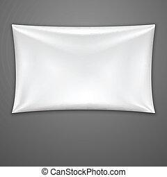 textile, blanc, vecteur, banner.
