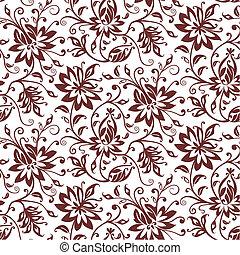 textile, floral, vecteur, fond