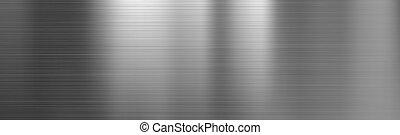 texture, acier, métal brossé, gradient