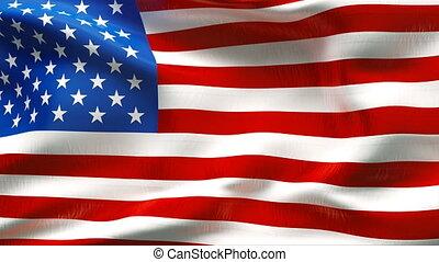 textured, drapeau, usa, coton