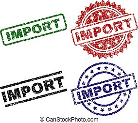 textured, importation, gratté, timbres, cachet