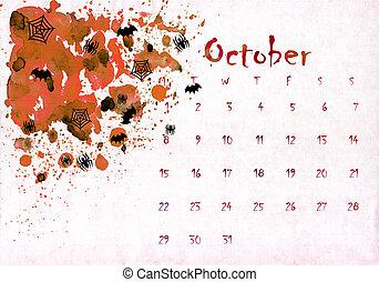 textures, coloré, printable, mois, main, peinture aquarelle, écrit, conception, 2018, calendrier