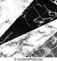 textures, différent, marbre, combiné, une