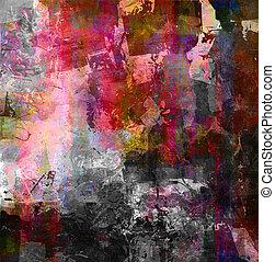 textures, médias mélangés