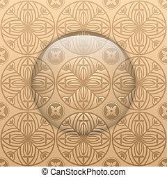 textures, verre, cercle, bouton, basque