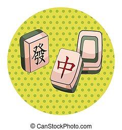 thème, éléments, mahjong