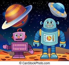 thème, 2, robots, espace