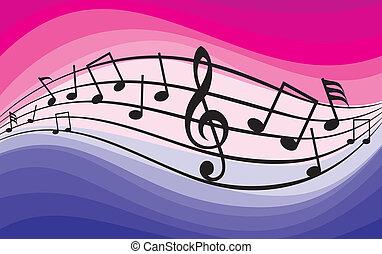thème, musique, notes), (music