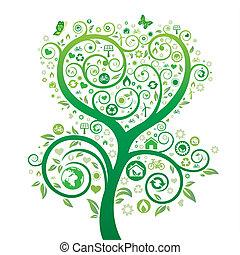 thème, nature, environnement, conception