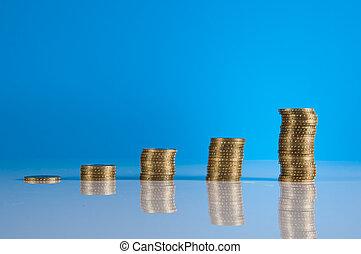 thème, remplir, financier, business