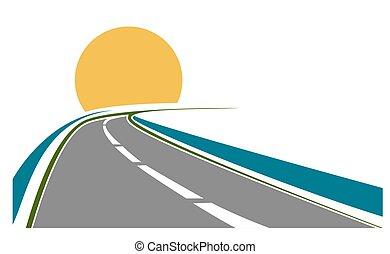thème, route, transport