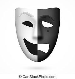 théâtral, masque comédie, tragédie