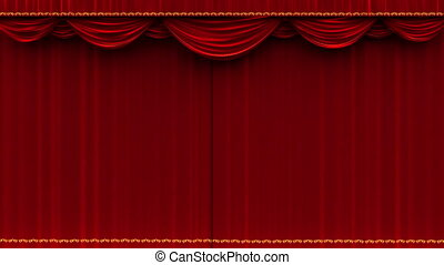 théâtre, -, mat, alpha, rideau, ouvre