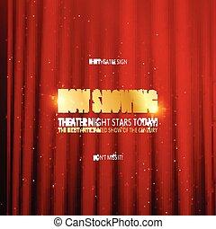 théâtre, première, affiche, design.