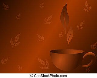 thé, arrière-plan noir