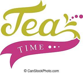 thé, conception, temps