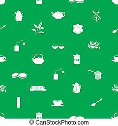 thé, icônes, eps10, modèle