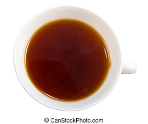 thé, isolé, tasse