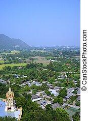 thaï, non-urbain, vue