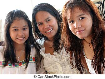 thaïlande, famille, heureux
