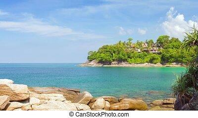 thaïlande, plage tropicale, recours, méridional, paisible