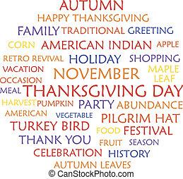thanksgiving, heureux, jour