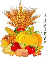 thanksgiving, récolte, /, conception