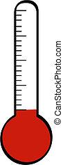 thermomètre, bas, température