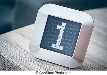 thermostat, nombre, minuteur, 1, calendrier, numérique, ou