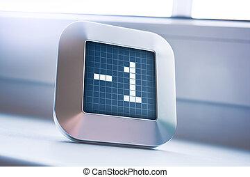 thermostat, nombre, minuteur, calendrier, -1, numérique, ou