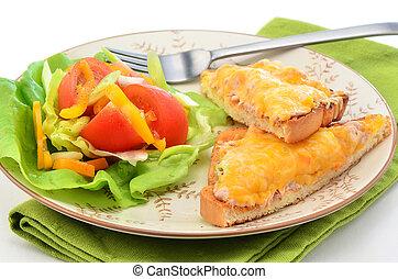 thon, fondre, salade