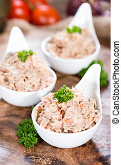 thon frais, fait, salade