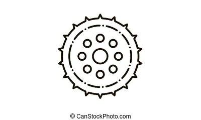 tige, icône, animation, vélo, connecter