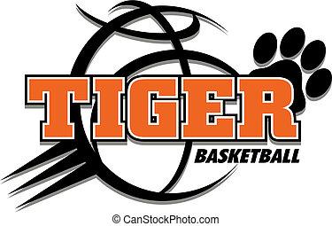 tigre, basket-ball, conception