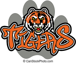 tigre, conception, mascotte