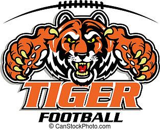 tigre, football, conception