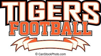 tigres, football, bannière