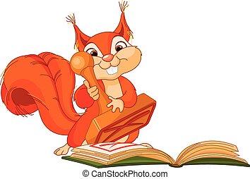 timbre, écureuil