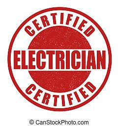 timbre, électricien, certifié
