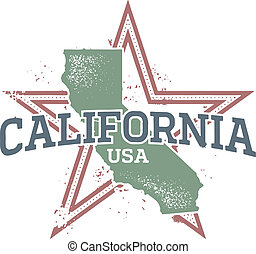 timbre, état, californie, usa